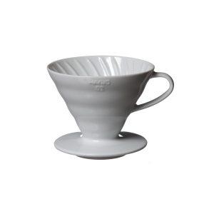 Hario V60 Ceramic Coffee Dripper White 02 VDC-02W