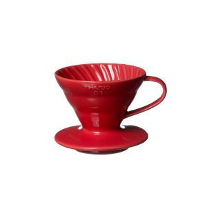 Hario V60 Ceramic Coffee Dripper Red 01 VDC-01R