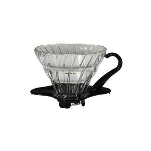 Hario V60 Glass Coffee Dripper Black 01 VDG-01B