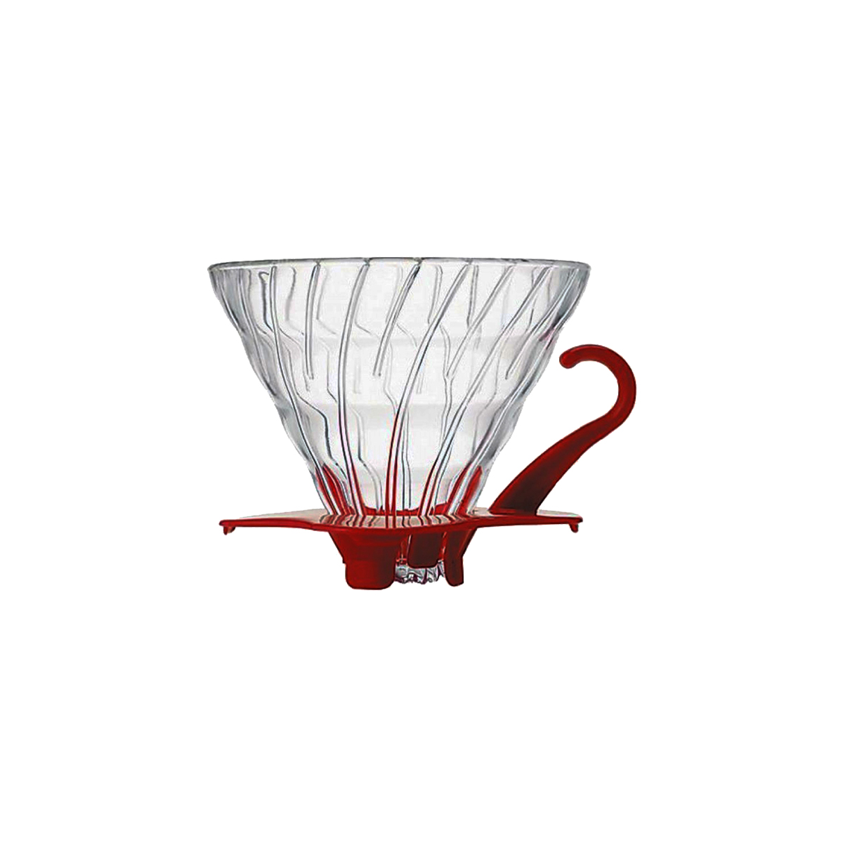 Hario V60 Glass Coffee Dripper Red 02 VDG-02R