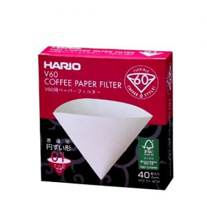 Hario V60 Filter Paper White 01 40 Pack VCF-01-40W