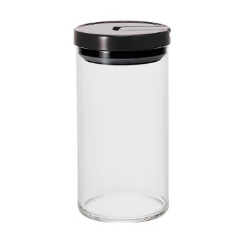 Hario Glass Canister Black 1000ml MCN-300B