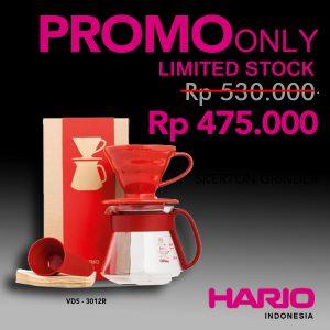Hario V60 Ceramic Pour Over Kit Red 01 VDS-3012R