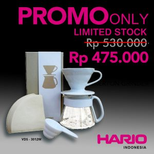 Hario V60 Ceramic Pour Over Kit White 01 VDS-3012W