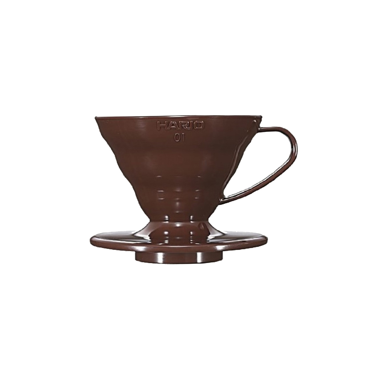 Hario V60 Plastic Coffee Dripper Brown 01 VD-01CBR