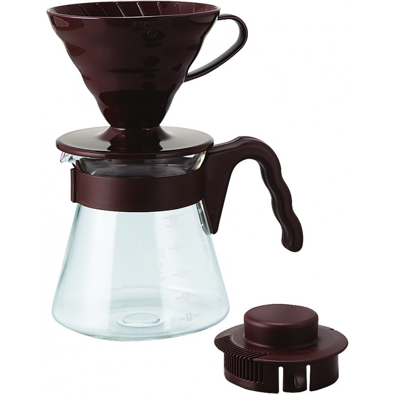 V60 Colour Dripper & Pot-Brown