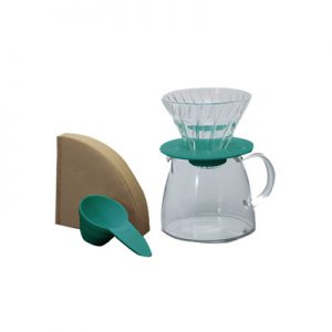 Hario Glass Coffee Dripper & Pot Claire Blue VGS-3512-TC
