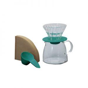 Hario Glass Coffee Dripper & Pot Claire Blue VGS-3512-TC