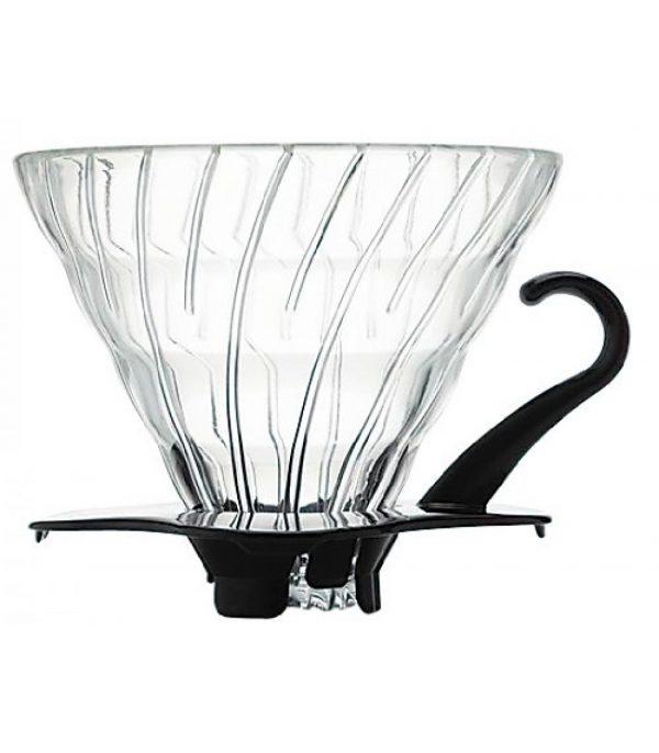 Hario V60 Glass Coffee Dripper Black 02 VDG-02B