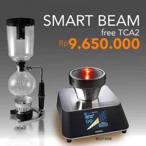 Hario Smart Beam Halogen Heater BGST-400E Free TCA-2