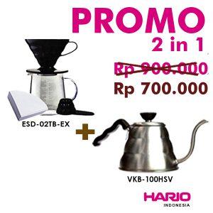 Promo 2 in 1 [Pour Over Kit ESD-02TB EX+Kettle Buono VKB 100HSV]