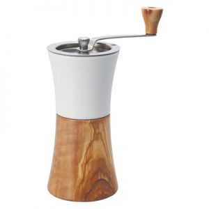Hario Ceramic Coffee Mill Olive Wood Hand Grinder MCW-2-OV