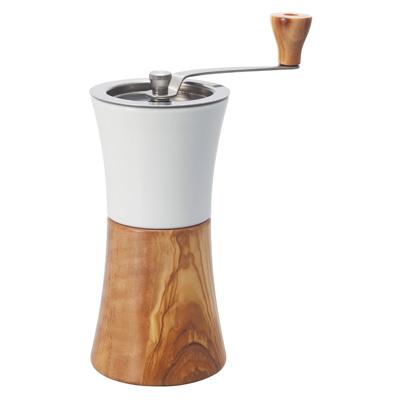 Hario Ceramic Coffee Mill Olive Wood Hand Grinder MCW-2-OV