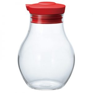 Hario Sealed Soy Sauce Bottle 180 Red OMPS-180-R