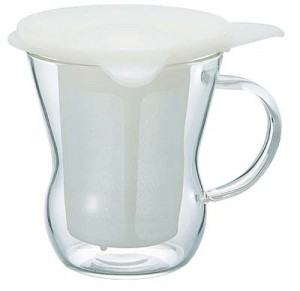 Hario One Cup Tea Maker Natural White OTM-1NW