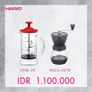 Hario V60 Promo Coffee Press + Grinder Skerton Plus
