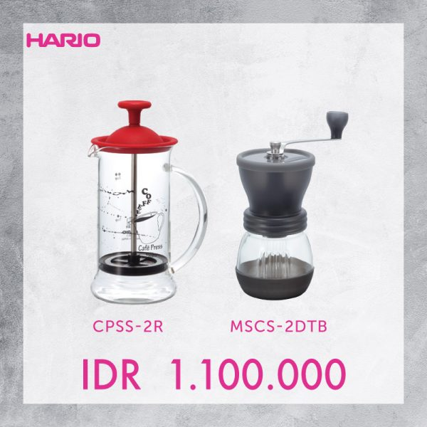 Hario V60 Promo Coffee Press + Grinder Skerton Plus