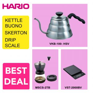 Hario V60 Promo MSCS-2TB+VKB-100HSV+VST-2000B