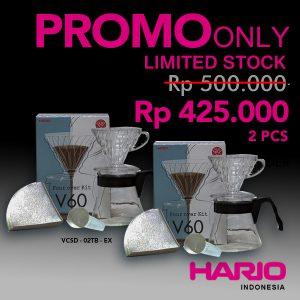 Promo Hario Pour Over Kit VCSD-02TB-EX 2Pcs