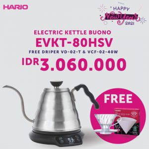 Hario V60 Electric Kettle Buono with Thermometer EVKT-80HSV