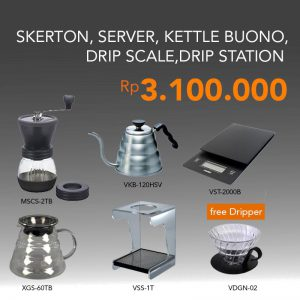 Paket Hario Manual Brewing Free VDGN-02B