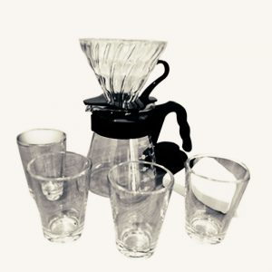Hario V60 Glass Pour Over Kit VGSD-02B EX