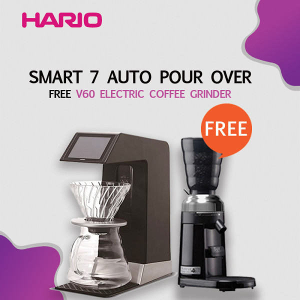 Hario V60 Auto Pour Over Smart 7 BT via Bluetooth EVS-70SV-BT free EVCG-8B