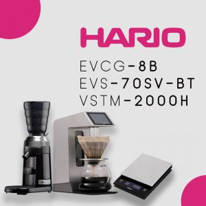 Paket Promo V60 Manual Brewing Automatic (EVS-70SV-BT, EVCG-8B, VSTM-2000HSV)