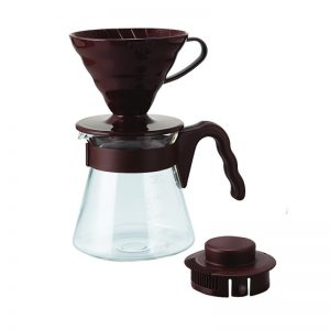 Hario V60 Pour Over Kit Brown VCSD-02-CBR