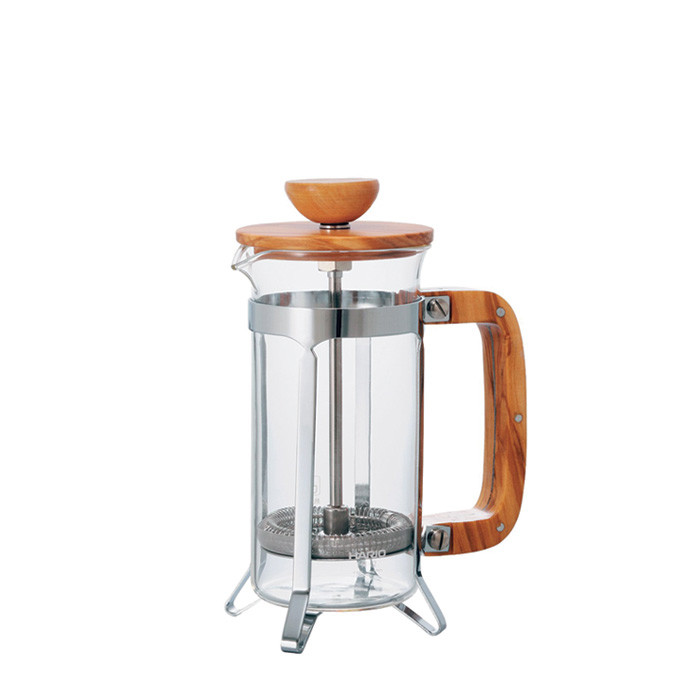 Hario Cafe Press Wood 2 Cups CPSW-2-OV