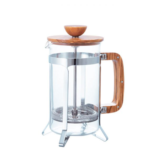 Hario Cafe Press Wood 4 Cups CPSW-4-OV