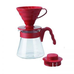 Hario V60 Pour Over Kit Red VCSD-02-R