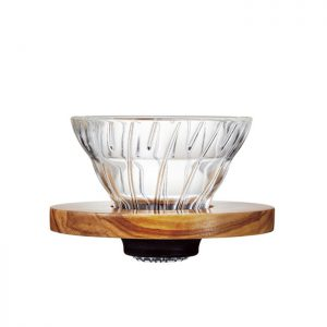 Hario V60 Dripper Glass 01 Olive Wood VDG-01-OV