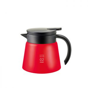 Hario V60 Insulated Stainless Steel Server 600 Red VHS-60R
