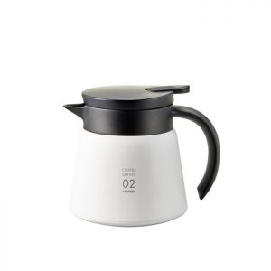 Hario V60 Insulated Stainless Steel Server 600 White VHS-60W
