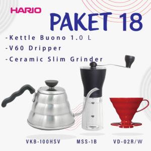 Hario V60 Promo Vkb-100HSV+MSS-1B Free Vd-02R