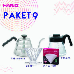 Hario Paket Manual Brewing (VKB-100HSV, VCS-02B, VD-02T, VCF-02-40W)