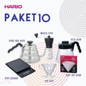 Hario Paket Manual Brewing 2 (VKB-100HSV, VCS-02B, VD-02T, VCF-02-40W, MSS-1B, VST-2000B)