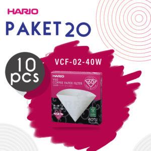 Promo Hario V60 Paper Filter 02 Vcf-02 40 W 10 Pcs