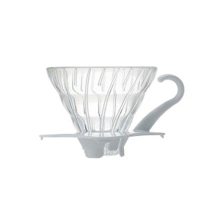 Hario V60 Glass Coffee Dripper White 01 VDG-01W