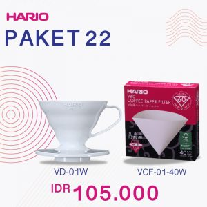 Hario V60 Promo Plastic Dripper 01 White Paper Filter 01