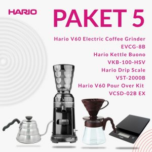 Hario Promo V60 VKB 100 HSV+EVCG 8 B+VST 2000 B+VCSD 02 CBR