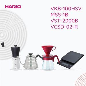Hario V60 Promo 1 Vkb-100HSV+MSS-1B + VST-2000B + VCSD-02