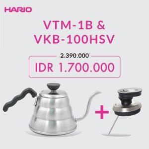 Hario Paket Kettle 100 Dan Thermometer