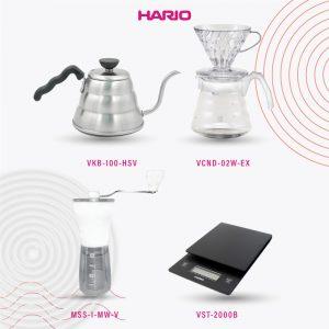 Hario V60 Promo 1 Vkb-100HSV+MSS-1MW-V + VST-2000B + VCND-02W-EX