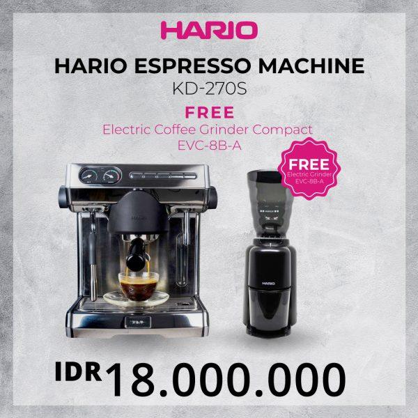 Hario Espresso Machine KD-270S Free EVC-8B A