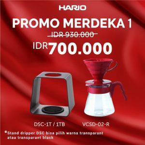 Hario Promo Paket Merdeka 1 (VCSD-02R, DSC-1T/TB)