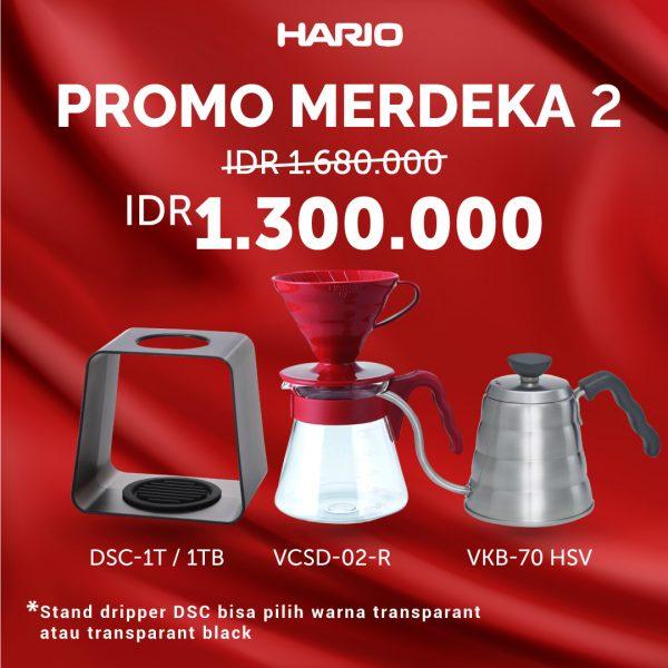 Hario Paket Merdeka 2 (VCSD-02R, DSC-1T/TB, VKB-70HSV)