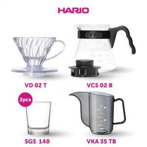 Hario Hemat Manual Brew (VKA-35TB, VD-02T, VCS-02B, 2x SGS-140)