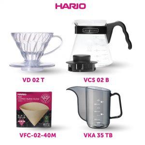 Hario Hemat Manual Brew I (VKA-35TB, VD-02T, VCS-02B, VCF-02-40M)